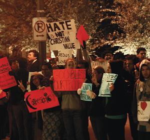 GU Pride Joins in Counter-Protest