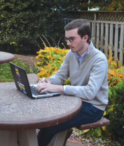 """DAVID WANG/THE HOYA PRACTICE MAKES PERFECT Tucker Cholvin (SFS '15) started a blog in high school and decided to continue the project here at Georgetown with """"37th and O."""""""