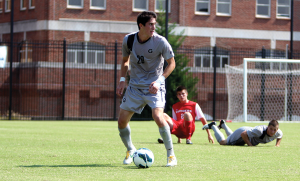 FILE PHOTO: CHRIS GRIVAS/THE HOYA Senior Midfielder/forward Andy Riemer was selected by the LA Galaxy with the sixth pick of Tuesday's MLS Supplemental Draft.