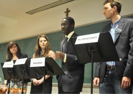 GUSA VP Candidates Set Platforms Apart in Debate