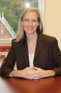 SARI FRANKEL/THE HOYA Michelle Siemietkowski (COL '92) directs the chaplains-in-residence program for campus housing.