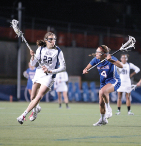 FILE PHOTO: CHRIS BIEN/THE HOYA Junior midfielder Kelyn Freedman posted a hat trick in GU's win over Delaware, and Head Coach Ricky Fried is expecting her to sustain that kind of level of play