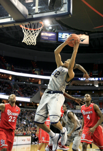 FILE PHOTO: WEB LESLIE/THE HOYA Freshman forward Otto Porter was named to the Big East weekly honor roll Monday after averaging a double-double in two games last week.