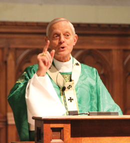 Chris Grivas/The Hoya His Eminence Donald Cardinal Wuerl led the Mass for Life in Dahlgren Chapel Saturday.