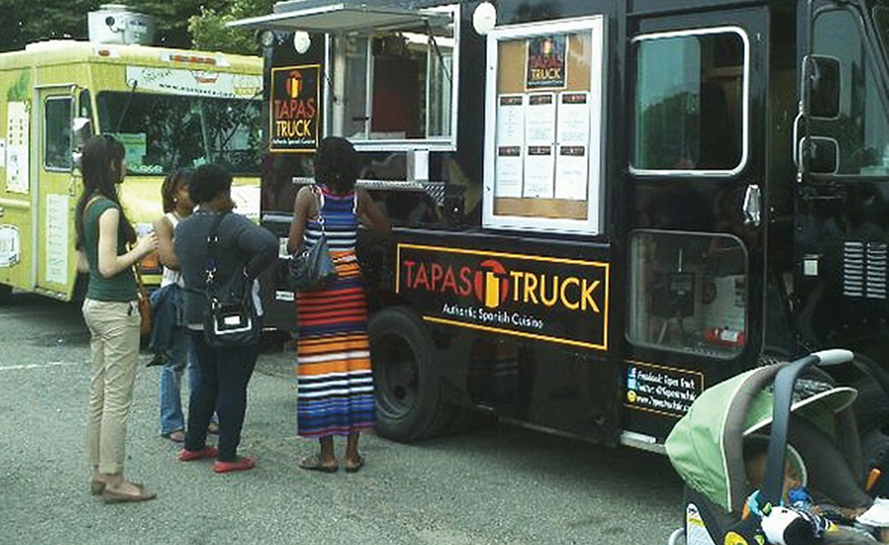 The Tapas Truck is one of many that makes a stop at Truckeroo, a monthly food truck festival where people can sample dishes with influences from all over the world. FOODSPOTTING