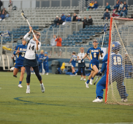 Junior attack Dina Jackson scored two goals and has one assist Wednesday. CHRIS BIEN/THE HOYA
