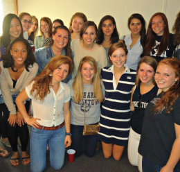 COURTESY OF NICOLE ROBERTSON KAPPA KAPPA HOYAS While Georgetown doesn't officially recognize Greek organizations, groups like Adelfi have still attracted a growing number of students.