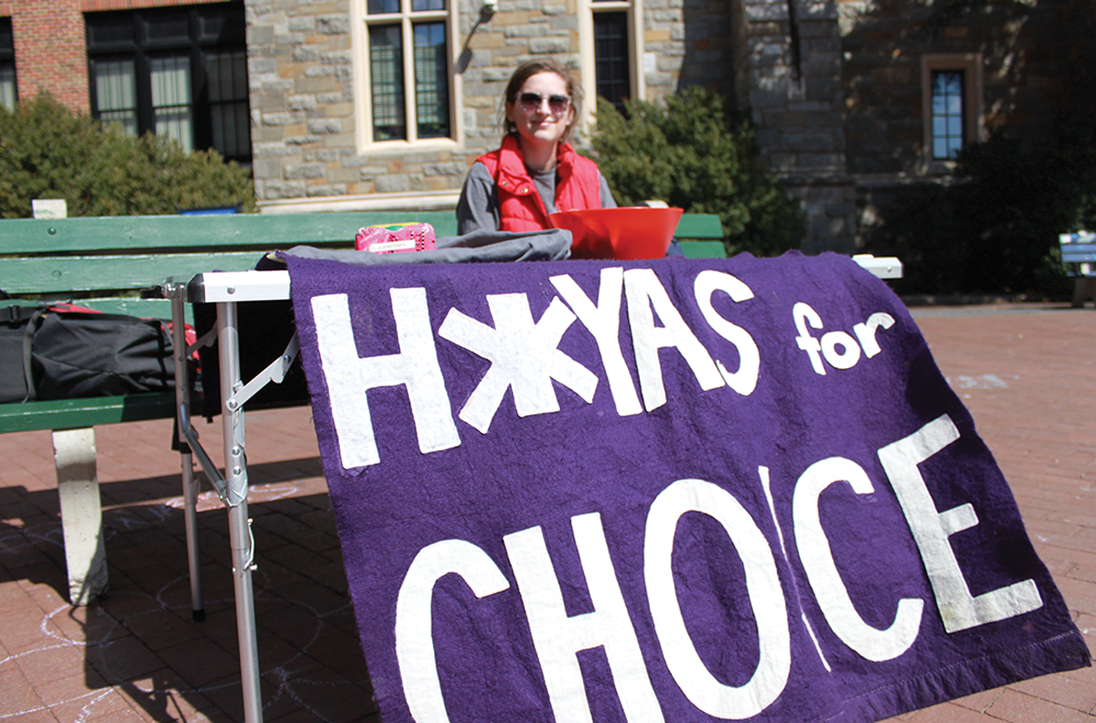 GUSA executives are pushing to eliminate designated free speech zones, like Red Square, in favor of a campus-wide free speech policy. FILE PHOTO: CHARLIE LOWE/THE HOYA