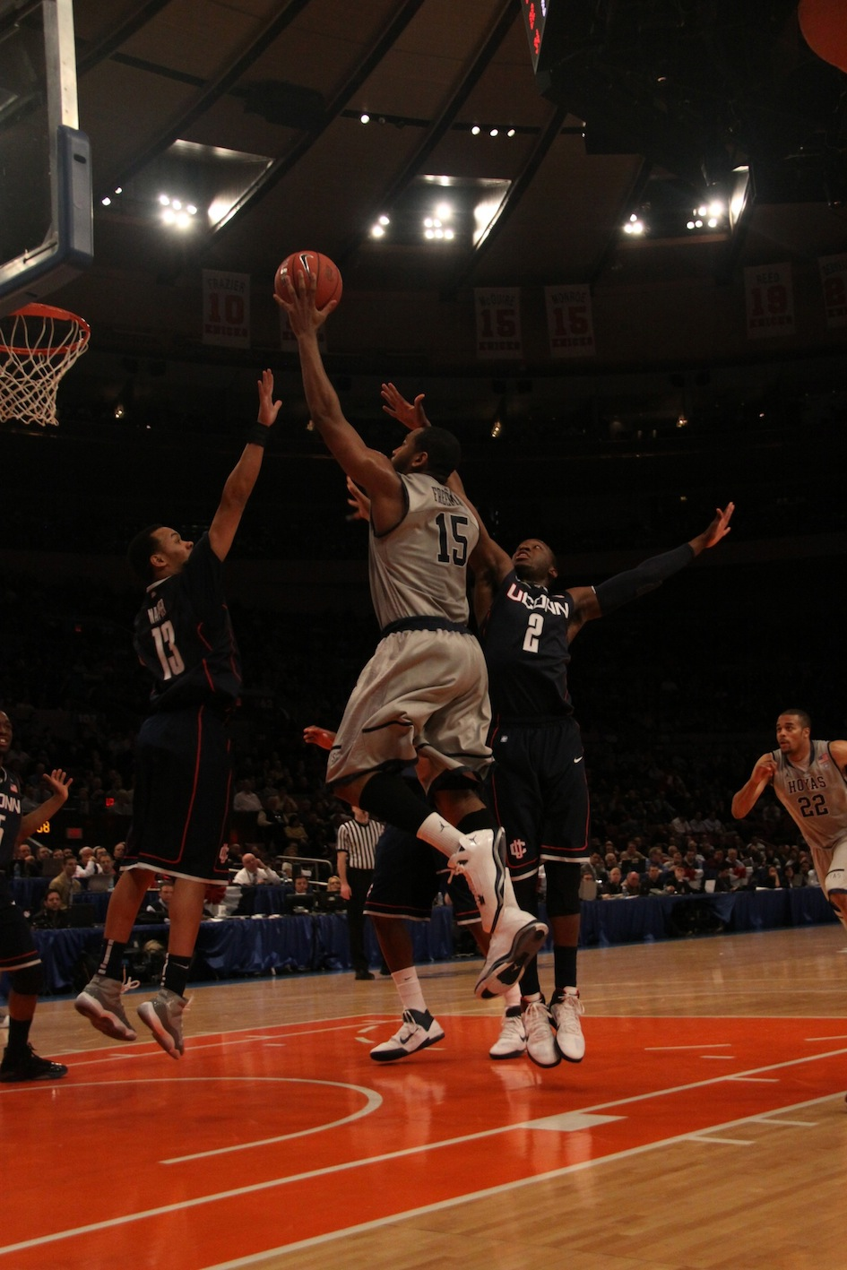 MEN'S BASKETBALL | Huskies Eliminate Hoyas From Big East Tournament