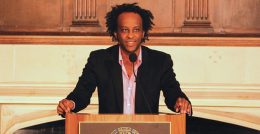 Lannan Chair of Poetics Dinaw Mengestu (COL '00) shares how history, culture and personal experience influence his writing and shape his characters. AMY LEE FOR THE HOYA