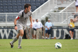 FILE PHOTO: CHRIS GRIVAS/THE HOYA Senior center back Tommy Muller was chosen 15th overall in Thursday's MLS SuperDraft by the San Jose Earthquakes.