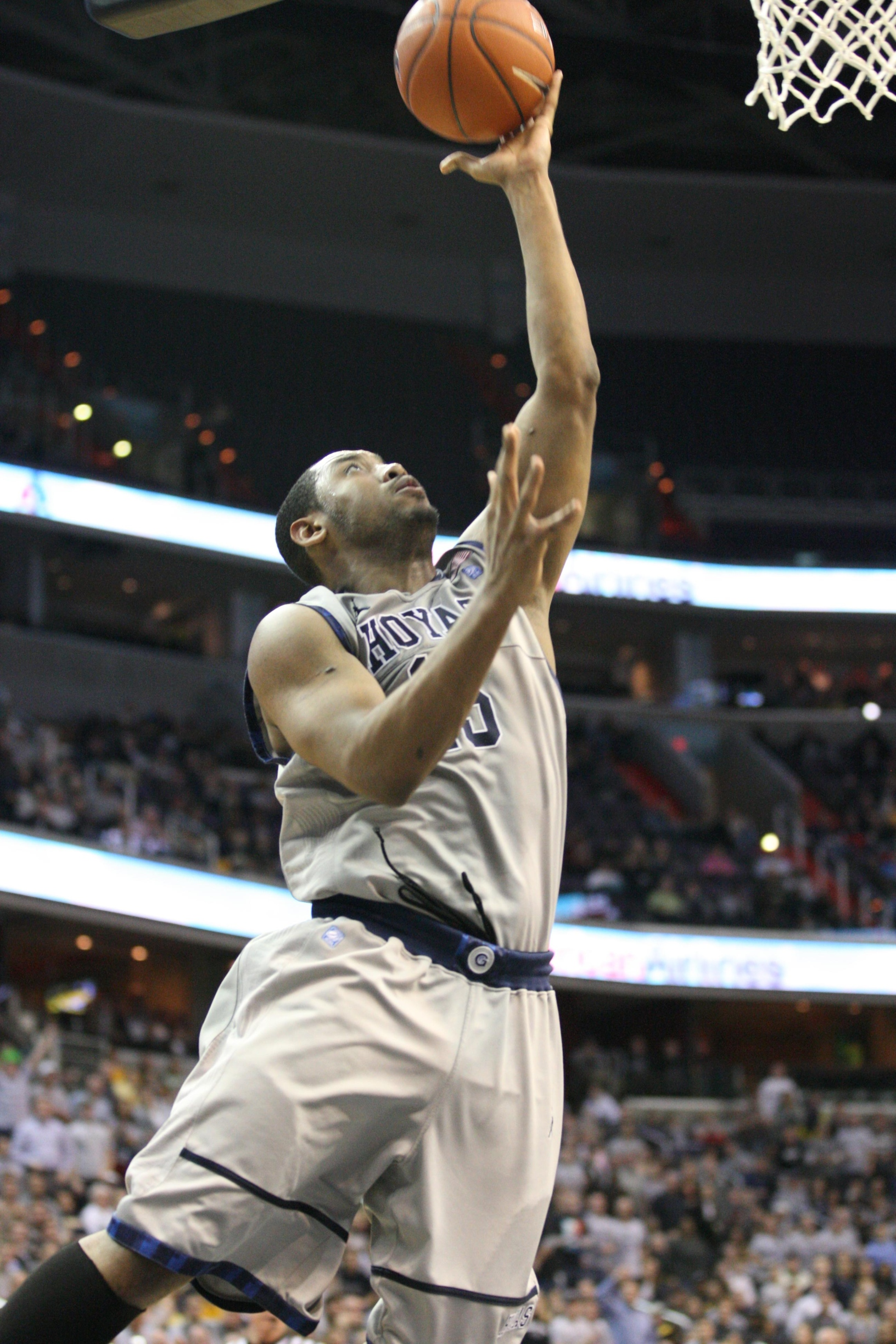 CHRIS BIEN/THE HOYA Senior guard Austin Freeman didn't shoot the lights out on Sunday afternoon, but his 17 points and presence on the floor keyed Georgetown's comeback win over Marquette.