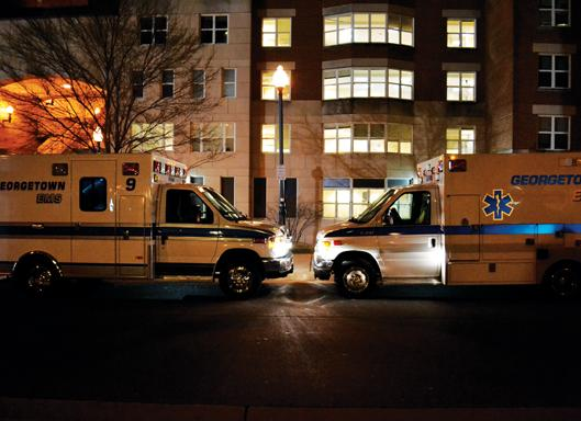 MEAGAN KELLY/THE HOYA The new ambulance for GERMS features high-tech equipment and greater visibility for the vehicle.