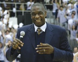 Georgetown great Dikembe Mutumbo was honored at Ellis Island on Thursday.
