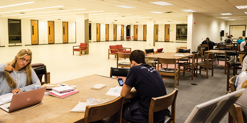 Library Renovations Add Study Space on Second Floor