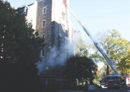 Burst Pipe in Copley Causes Fire Scare