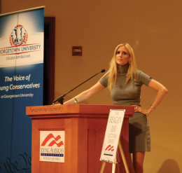Coulter Speech Amuses, Offends