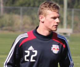 COURTESY NEW YORK RED BULLS Central midfielder and 2012 Georgetown captain Ian Christianson became the first Hoya alum to enter MLS since 2008.