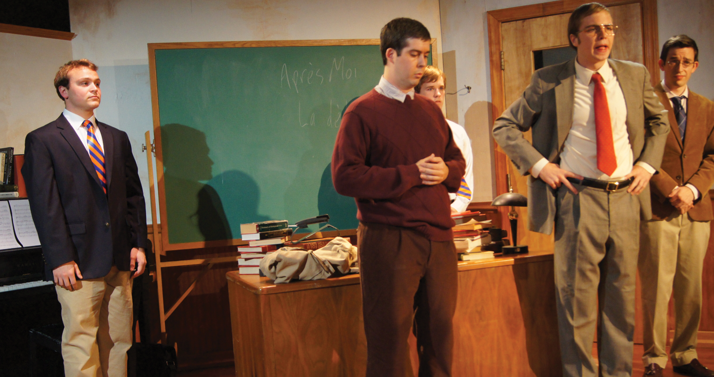 """NATALIA ORTIZ/THE HOYA AN EDUCATION Mask & Bauble's newest three-hour production may be a long one, but """"The History Boys"""" tackles problems that will keep you engaged."""