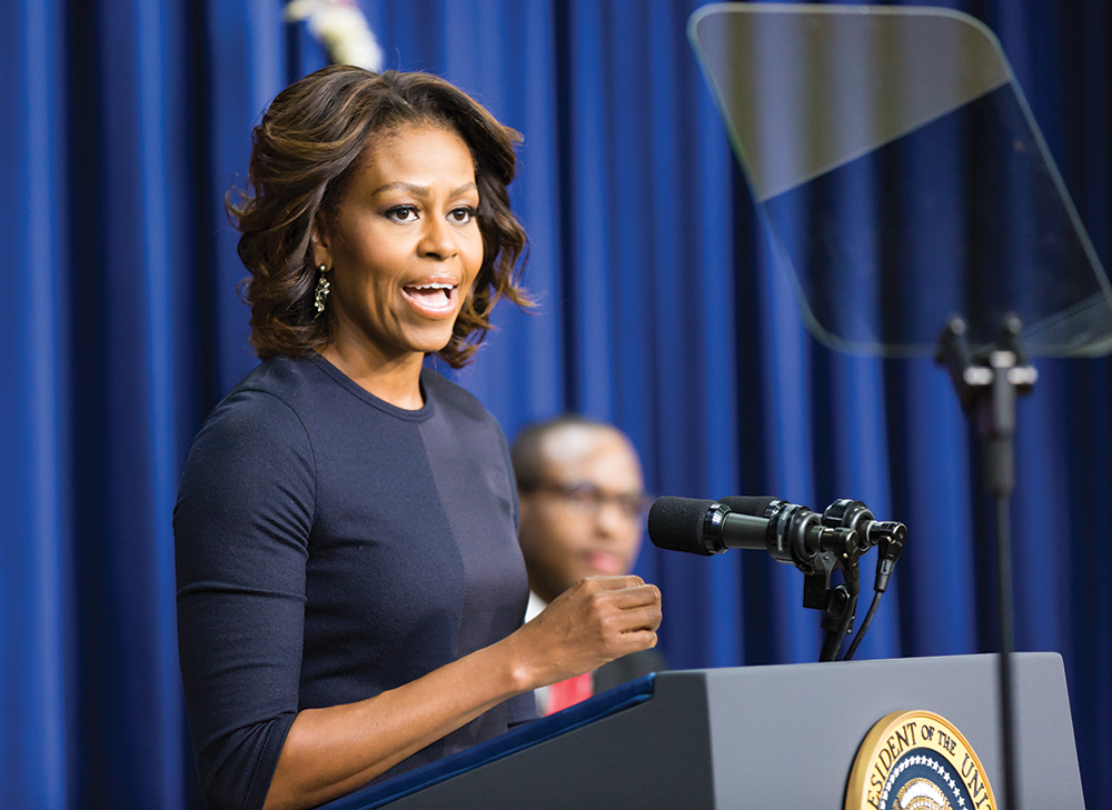 First Lady Pushes Higher Ed