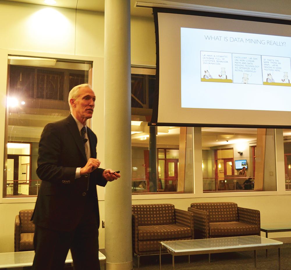 Speaker Discusses Data Mining