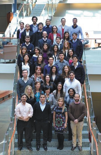 COURTESY GCL The 40 members of the 2014 Global Competitiveness Leadership Program on campus for a 12-week program.