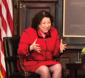 Supreme Court Justice Sonia Sotomayor discussed the challenges she faced as a minority in her path to the bench Wednesday.