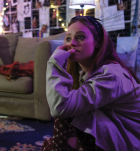 "CLAIRE SOISSON FOR THE HOYA Shannon Walsh (COL '15) tackled a gritty role on the intimate set of ""A Mouthful of Birds."""