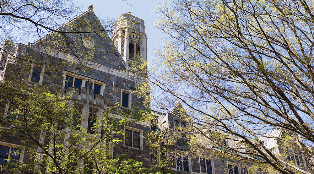 ALEXANDER BROWN/THE HOYA Housing construction and policy dominated this year's headlines, with students and alumni passionate about maintaining Georgetown's architectural spirit in future designs.