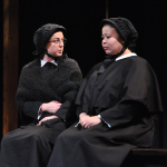 "Olivia Hewitt/The Hoya Maddie Kelley (COL '16) and Addison Williams (COL '14) gave powerful performances that created a tense web of secrecy in ""Doubt: A Parable"""