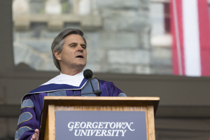 ALEXANDER BROWN/THE HOYA Former CEO of AOL Steve Case addressed the McDonough School of Business Class of 2014 at their commencement ceremony Saturday.