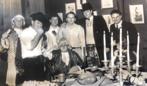 Tombs and 1789 founder Richard McCooey celebrating upstairs at 1789 in the 1960s