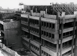 COURTESY GEORGETOWN UNIVERSITY ARCHIVES Construction in 1969.