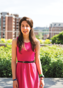 FILE PHOTO: ALEXANDER BROWN/THE HOYA 2014 School of Nursing and Health Studies Valedictorian Caroline Cotto (NHS '14) received a Fulbright Fellowship to teach English in Taiwan.