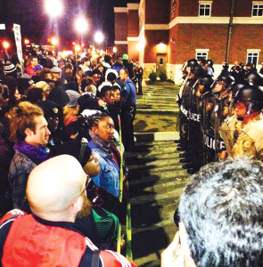 COURTESY LADARIUS TORREY Students joined in protests in Ferguson, Mo., over Columbus Day weekend as part of Ferguson October.