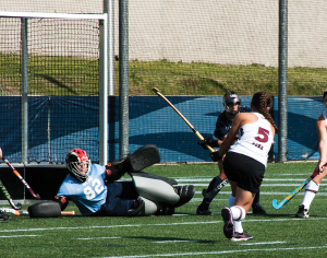 ISABEL BINAMIRA FOR THE HOYA Georgetown sophomore goalkeeper Rachel Skonecki registered nine individual saves against the Owls Friday. She has 81 saves on the year, and three shutouts in her 14 starts, good for 3.96 goals allowed per game.