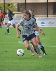 DAN GANNON FOR THE HOYA Senior midfielder Daphne Corboz notched three assists and a goal Thursday.