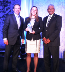Courtesy cOMOLLI fAMILY Georgetown alumna Kelly Camolli was named a finalist for the NCAA's Woman of the Year Award. She played both tennis and basketball.