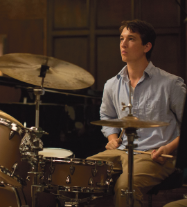 """MOVPINS Miles Teller stars as aspiring drummer Andrew Neyman in the critically acclaimed drama """"Whiplash."""""""