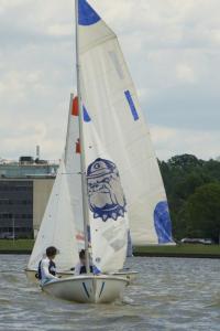 GU HOYAS Junior Nevin Snow and senior Katie DaSilva led Georgetown to victory in the MAISA regatta in New York this weekend.