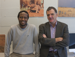 MICHELLE XU/THE HOYA Economics professor Billy Jack (right) and public policy professor James Habyarimana received a $3 million grant from USAID for a project to improve road safety in East Africa.
