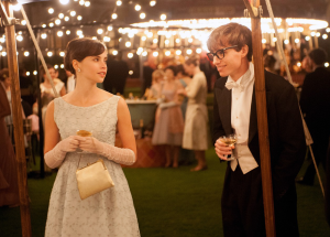 """FOCUSFEATURES Felicity Jones and Eddie Redmayne play Jane and Stephen Hawking in the new movie """"The Theory of Everything."""" Redmayne spoke in an interview of the couple's complex relationship and how the two changed over time in response to Stephen's growing illness and career."""