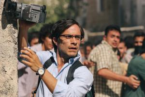 "OPENROADFILMS Gael Garcia Bernal plays Newsweek reporter Maziar Bahari in Jon Stewarts directorial and screenwriting debut film ""Rosewater."""