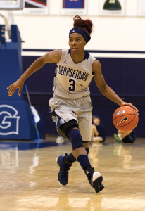 ALEXANDER BROWN/THE HOYA In her first season, sophomore guard Tyshell King, a defensive specialist for the Hoyas, averaged just over 10 minutes a game.