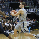 CHRIS BIEN/THE HOYA Sharpshooting junior guard David Allen featured in just 10 of the 33 games and had just one basket last season.