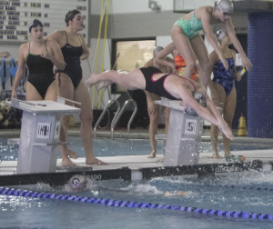 FILE PHOTO: MICHELLE LUBERTO/THE HOYA The swimming & diving team will attempt to beat Howard for the second year in a row.