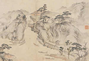 """COURTESY ARTHUR M. SACKLER GALLERY """"Boats Grappling Upstream"""" shows rural Chinese culture during the Qing dynasty."""