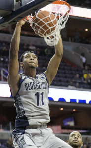 FILE PHOTO: JULIA HENNRIKUS/THE HOYA Freshman forward Isaac Copeland will look to repeat his 16-point  performance from the Battle 4 Atlantis when GU faces Butler on Saturday.