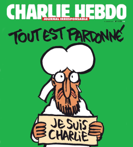 "CHARLIE HEBDO ""Je Suis Charlie"" became a slogan for freedom of speech and freedom of the press shortly after the terrorist attack at a newspaper office in France."