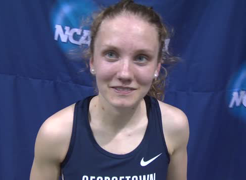 FLOTRACK Senior All-American Katrina Coogan extended her success from the cross-country season into the indoor track and field season, as she ran the second-fastest mile in the women's division.